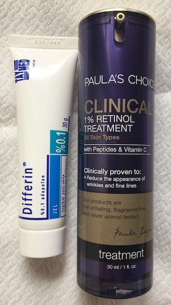 Retinol, retinoizi, adapalene, differin, clinical 1%